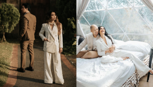 These Chic Celebrities Will Totally Convince You To Wear A Bridal Pantsuit