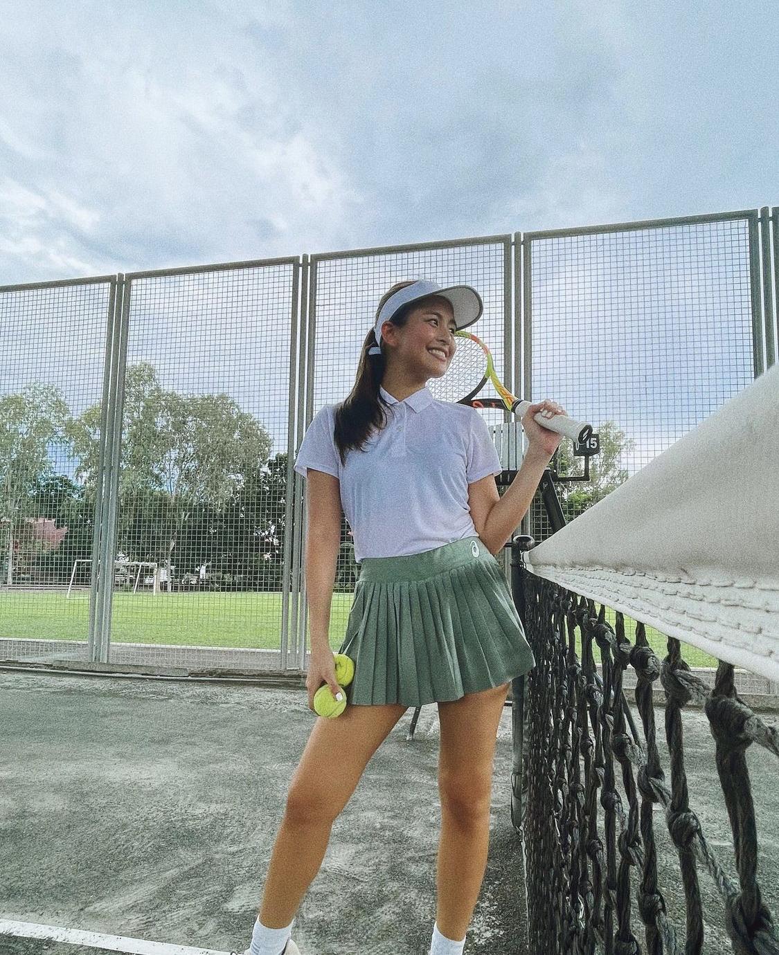 tennis skirt ootd ideas