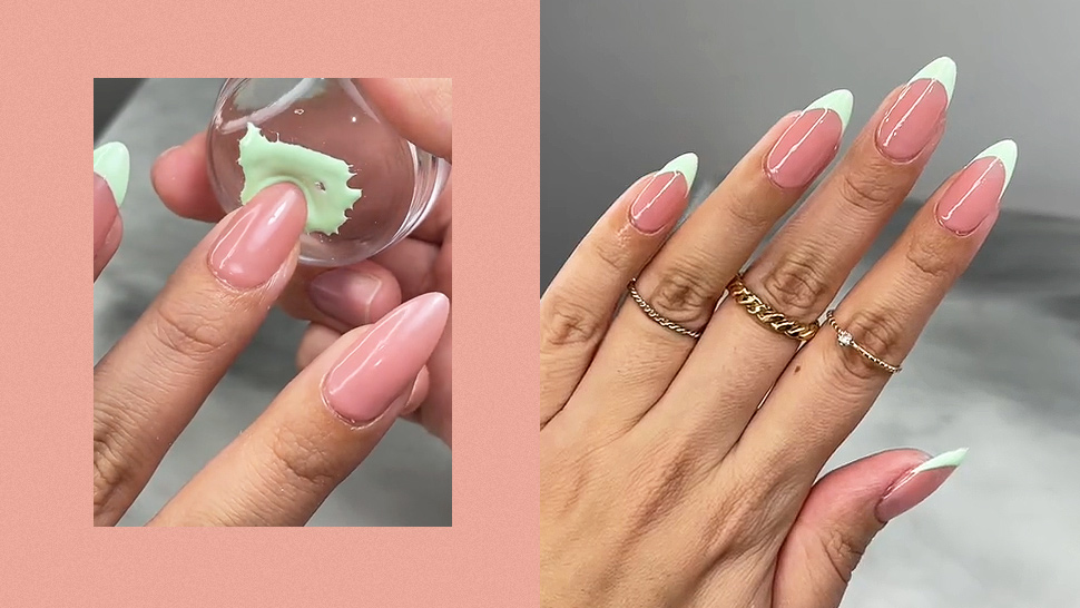The Internet Is Obsessed With This Diy Hack For Flawless French Tips