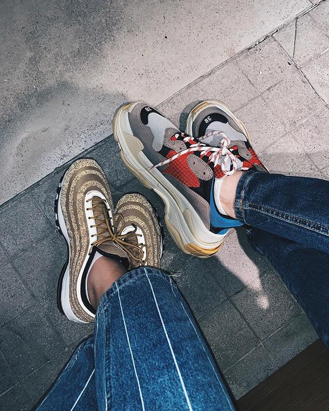 cassy legaspi carmina villarroel balenciaga sneakers