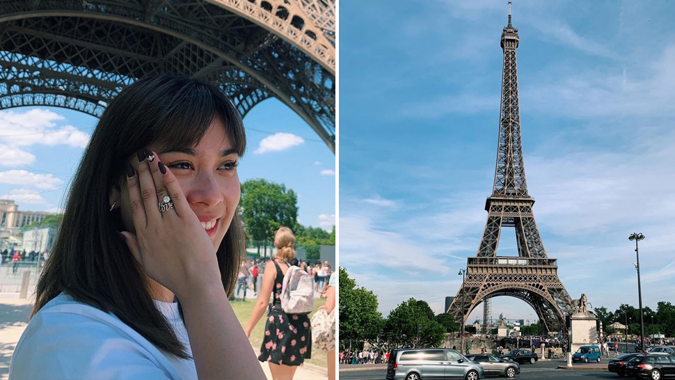 Yen Santos Got So Emotional After Seeing the Eiffel Tower in Paris