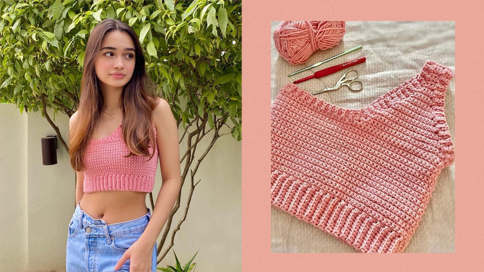 We're Obsessed With Sunshine Cruz Crocheting Cropped Tops For Herself And Her Daughters