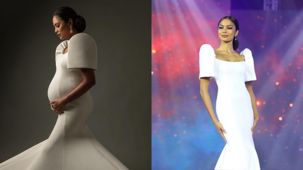 Beauty Queen Alaiza Malinao Wore the Most Stunning Terno Gown for Her Maternity Shoot
