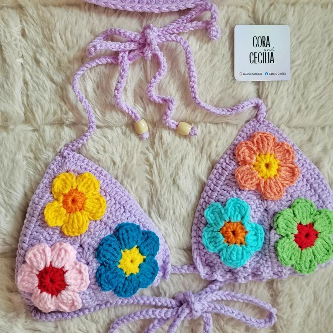 sue ramirez exact crocheted swimsuit set