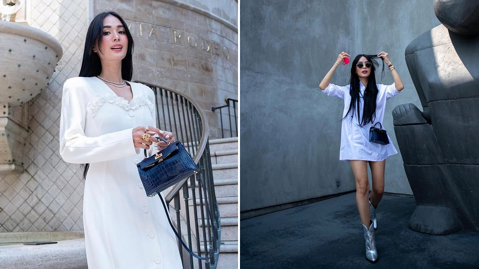 We're Obsessed with Heart Evangelista's White Travel OOTDs in the U.S.