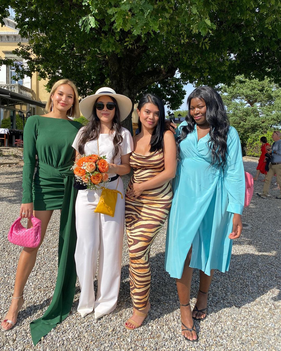 celebrity wedding guest outfits