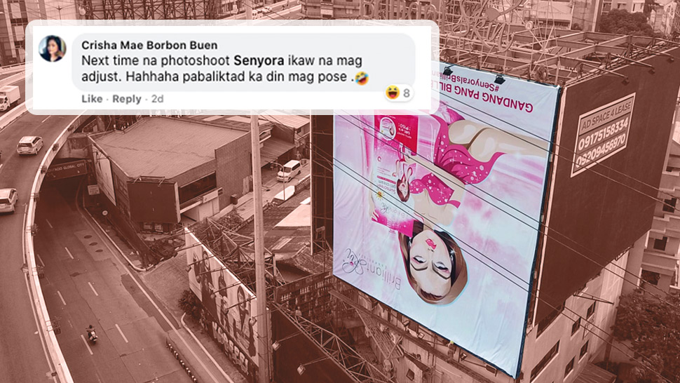 A Billboard Was Installed Upside Down in EDSA and It's Quite Hilarious
