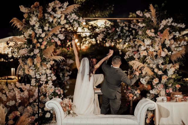 rustic pastel wedding