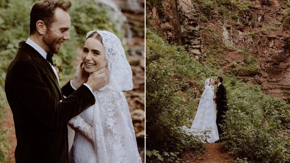 Lily Collins Is Every Bit Like A Fairytale Princess In Her Ethereal Wedding Look