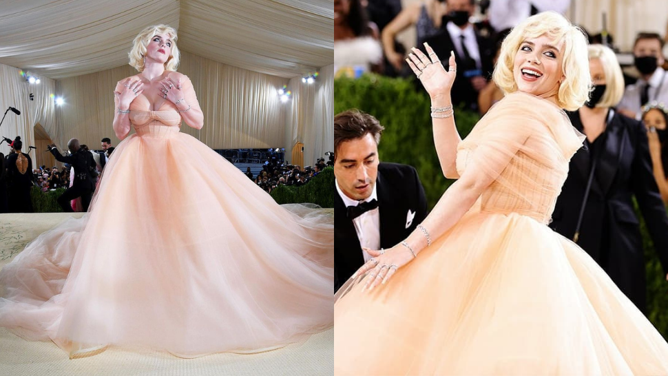 We're Living For Billie Eilish's Glamorous Holiday Barbie-inspired Met Gala Look