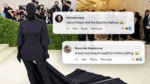 Kim Kardashian Literally Wore Head-to-toe Black To The Met Gala And The Internet Can't Take It