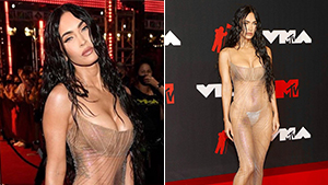 Megan Fox Broke The Internet Wearing A Nearly-naked See-through Dress To The Vmas