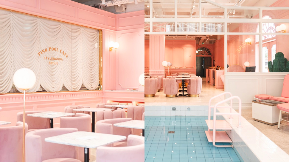 We're Dreaming Of Traveling To Korea Because Of This Pink Pool Cafe In Seoul