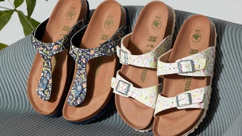 We're Obsessed With These Dainty Floral Birkenstock Sandals