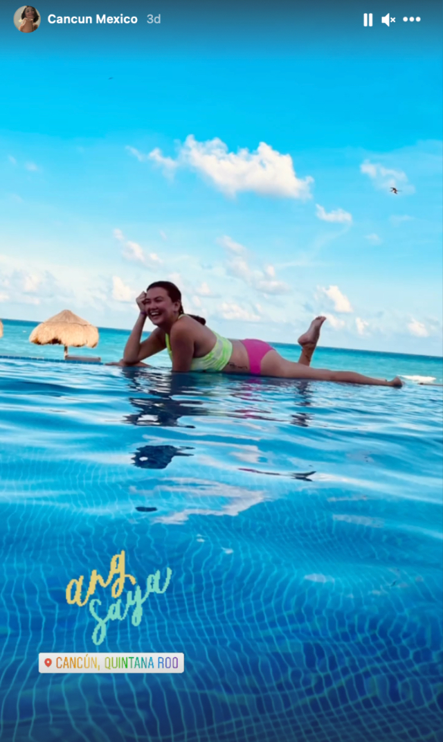 angelica panganiban colorful beach outfits in mexico