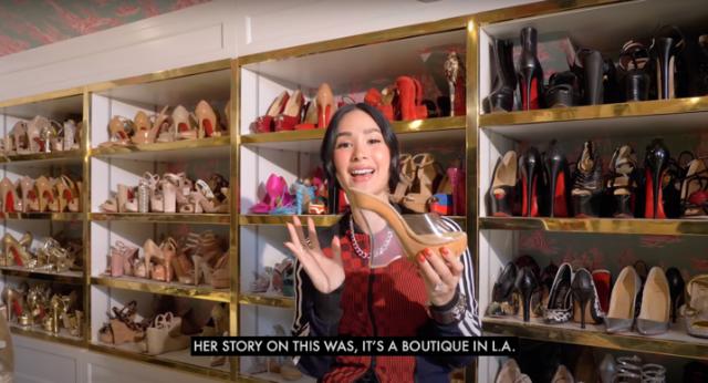 heart evangelista shoe collection vlog