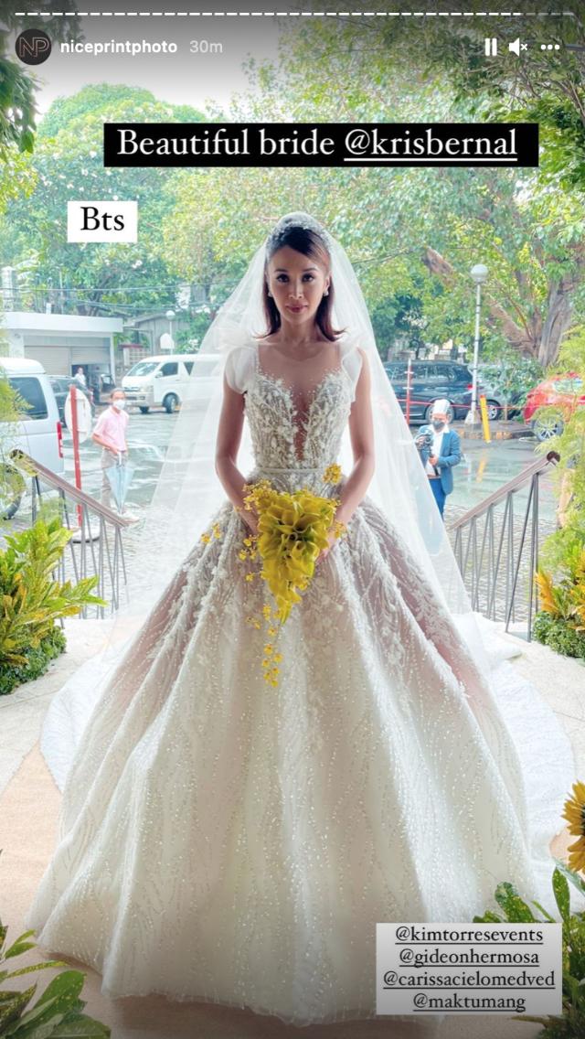 kris bernal wedding look