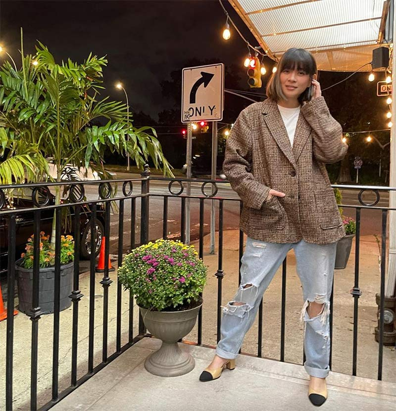 lj reyes stylish outfits in new york