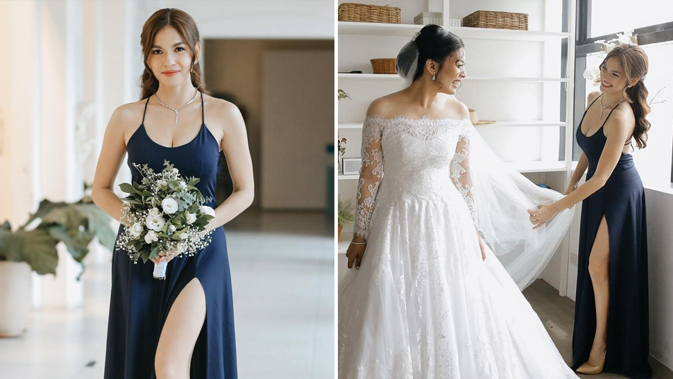 We're In Love With Andrea Torres' Sultry Minimalist Bridesmaid Look