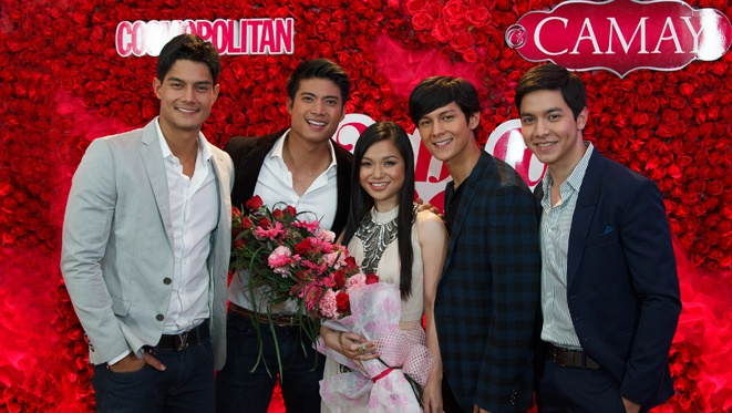 Camay Flirts With The Cosmo Hunks