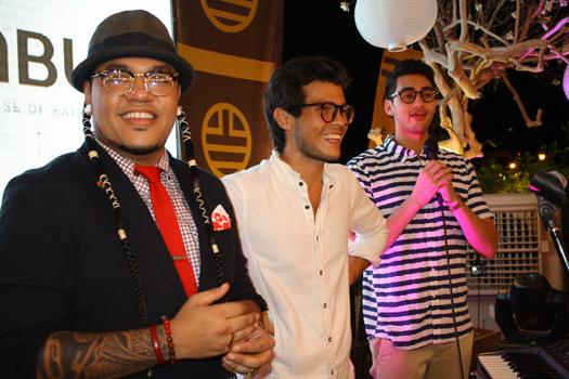 The men behind Manila Pop Up: Deejae Paeste, Erwann Heussaff, and Mike Concepcion