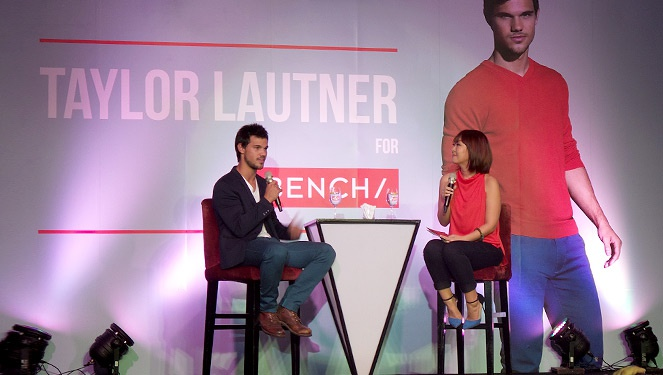 Taylor Lautner For Bench