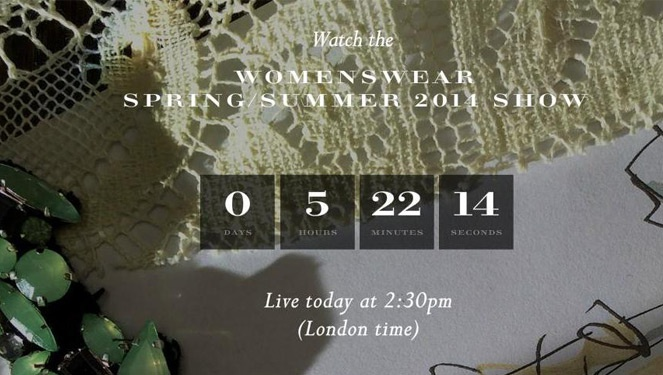 Watch Live: Burberry Prorsum Spring/summer 2014