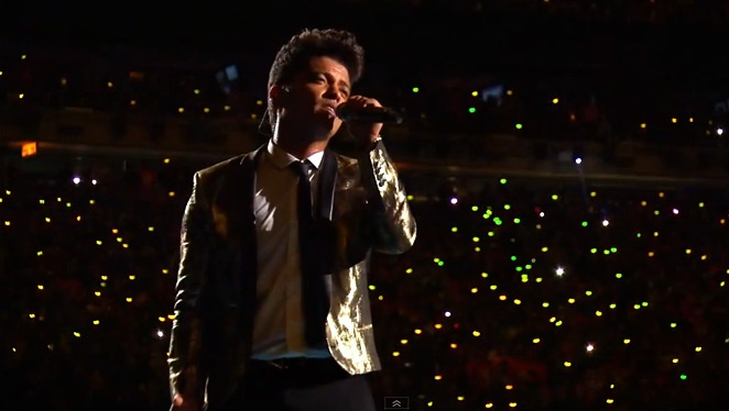 Why We Think Bruno Mars' Superbowl Gilded Jacket Is So Rad