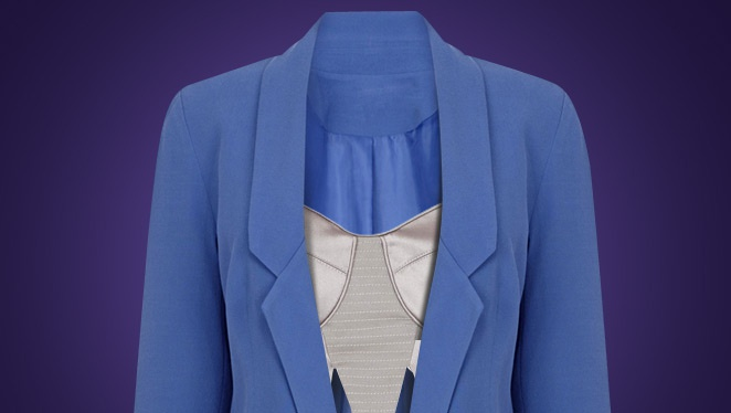 Cool Combo: Blazer  And Boudoir Top