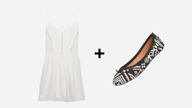 Awesome Twosome: Summer Dress + Ballet Flats