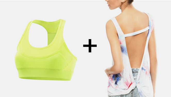 Cool Combo: Muscle Tee And Sports Bra