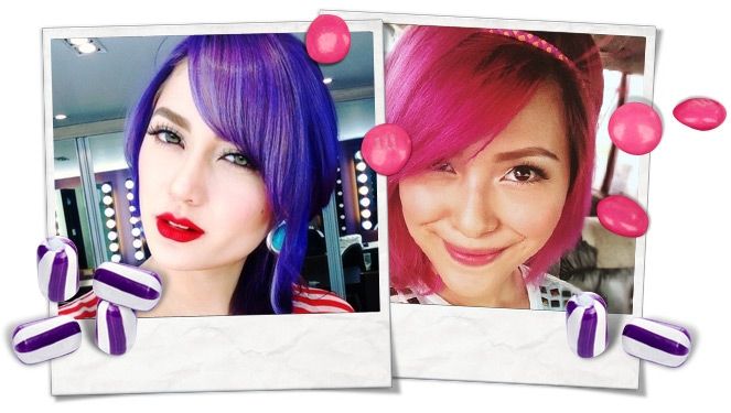 Celebstagram: The Yummy Hair Candy Trend