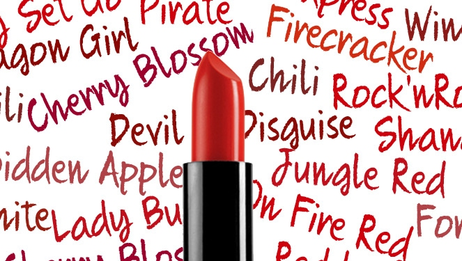 Fun Lipstick Names: Red