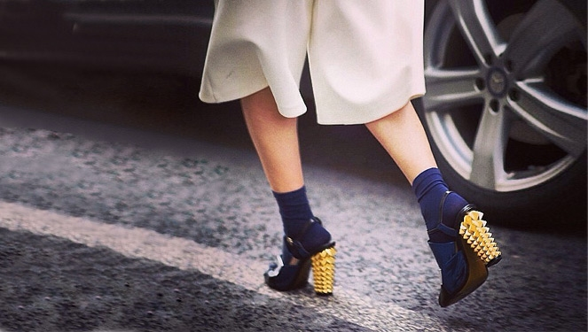How To Pull Off The Heels With Socks Trend