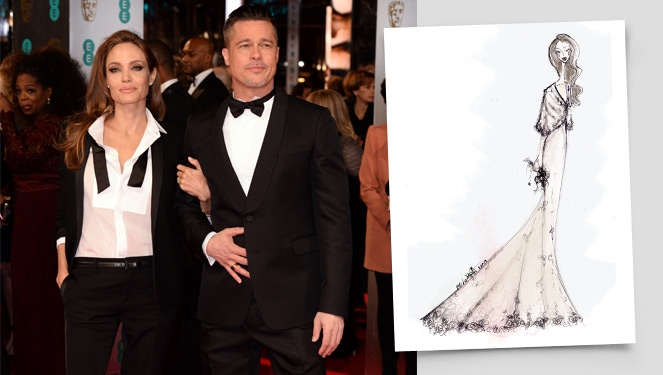 Here's Our Take On Angelina Jolie's Wedding Dress