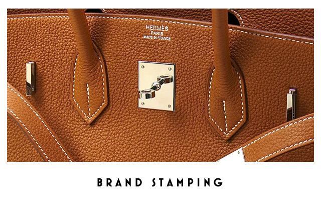 There Are Two Stamps To Check When Authenticating An Hermès The First Should Be Heat Stamp In Metallic Foil Often Same Color As Hardware