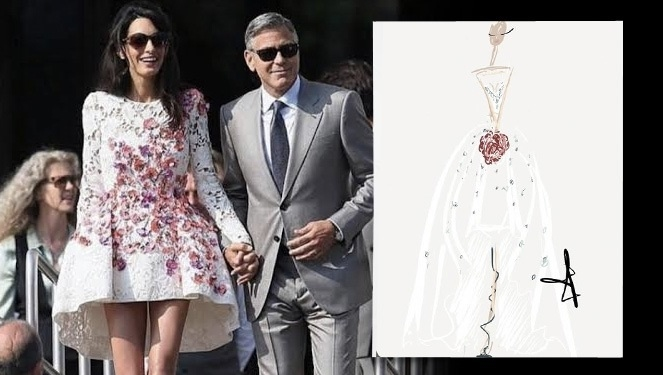 Here's Our Take On Amal Alamuddin's Wedding Dress