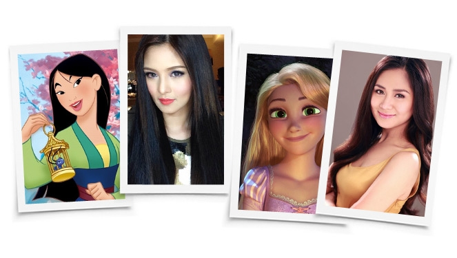 Disney Princesses And Their Local Celebrity Counterparts