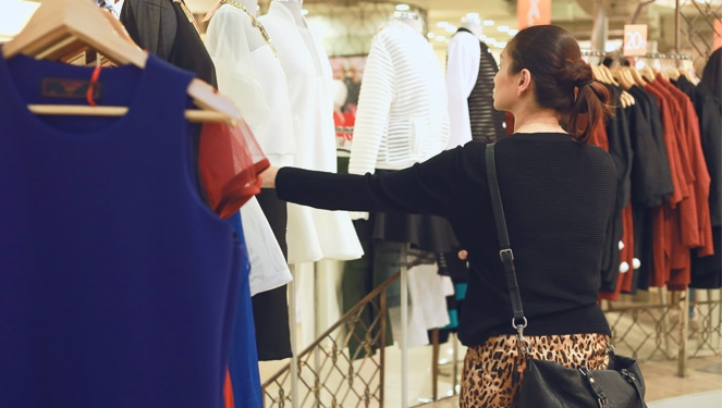 Pauline Juan Shops At The Ramp Crossings