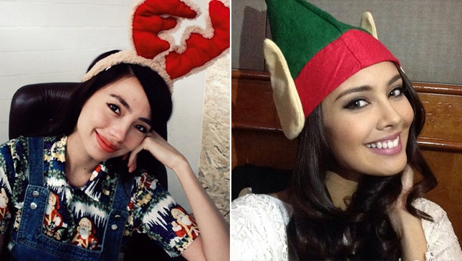 Celebrities In Their Christmas Attires