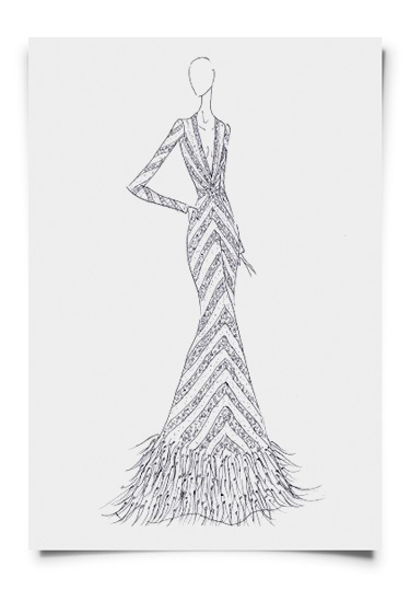 Charina Sarte designs Miss Philippines evening gown
