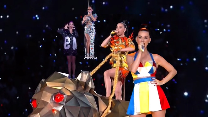 Katy Perry Had 4 Outfit Changes During Her Super Bowl Halftime Show