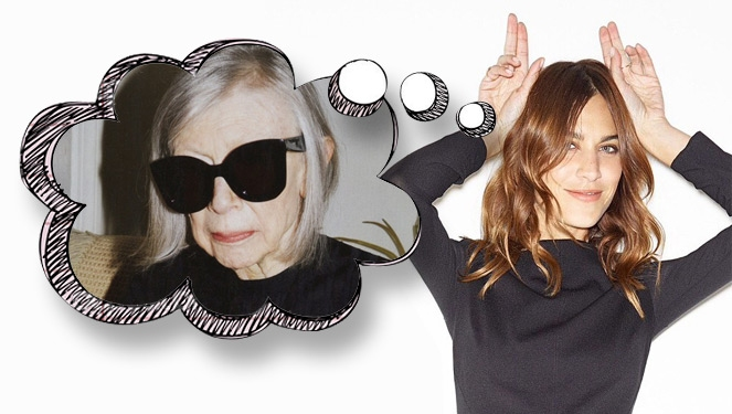 Alexa Chung Thinks She Incepted Joan Didion's Celine Campaign