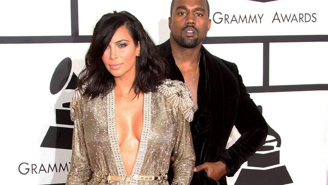Kim Kardashian West Suffers Wardrobe Malfunction Before The Grammys