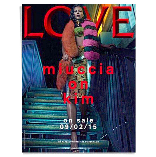 LOVE Magazine with Kim Kardashian in Prada
