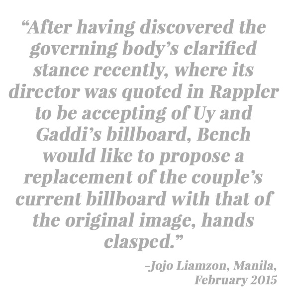 Official Statement of Bench on the Controversial Billboard