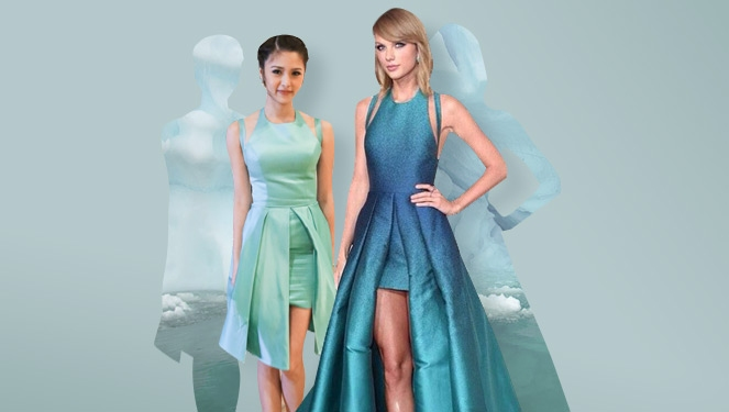 Spotted: Kim Chiu And Taylor Swift In Matching Teal Frocks