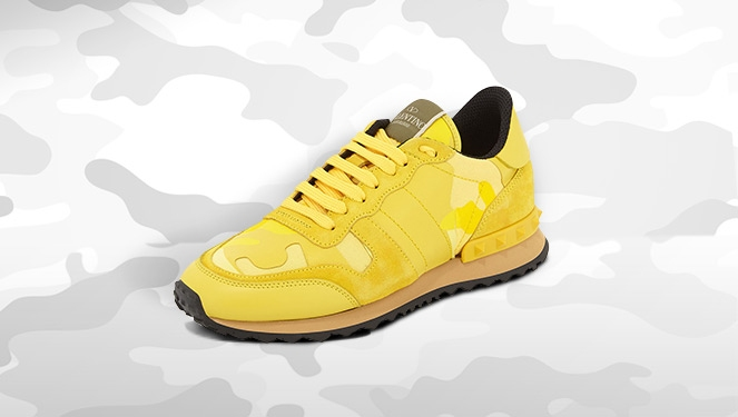 Sneak Of The Week: Valentino Rockrunner Camouflage In Naples Yellow