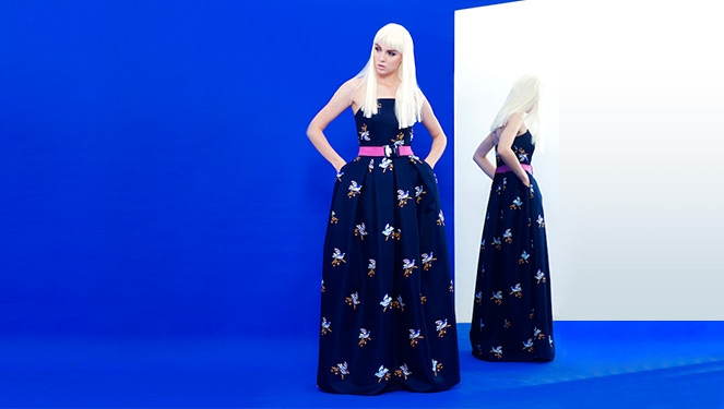 This Swallow Print Dress Will Make You Want To Dance To Lady Gaga's Art Pop