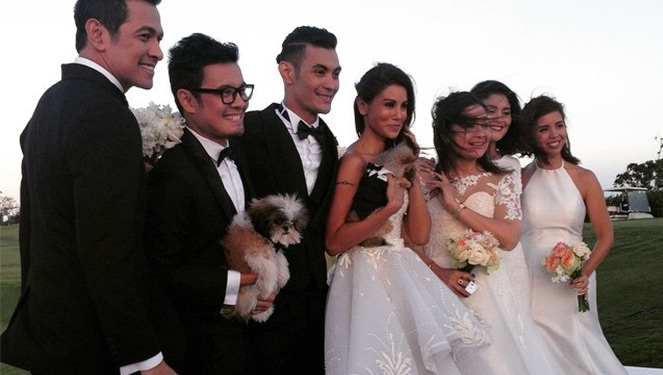 For Newlyweds Gab Valenciano And Tricia Centenera, A Stylish Ceremony